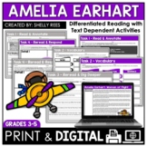 Amelia Earhart Reading Passage and Worksheets