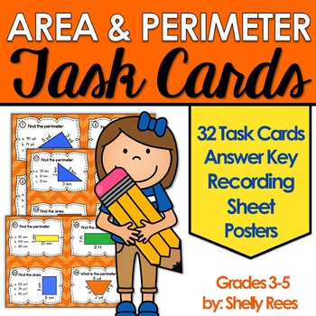 Area and Perimeter Activity Task Cards