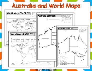 Australia States and Territories Map - Interactive Notebook