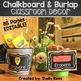 Burlap and Chalkboard Classroom Decor & Teacher Planner Bundle