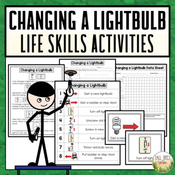 Changing a Lightbulb Life Skills Cleaning Activities