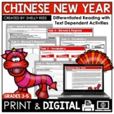 Chinese New Year Reading Comprehension Passage and Worksheets