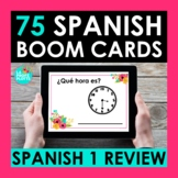 Spanish 1 Review BOOM CARDS | Digital Task Cards | Distanc