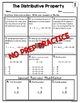 Distributive Property of Multiplication Worksheets