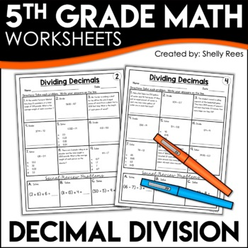 Dividing Decimals Worksheets | 5th Grade Math Homework