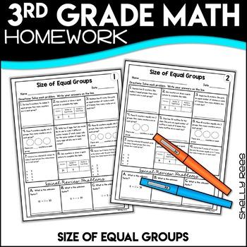 Equal Groups Size Worksheets