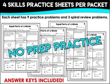 Equal Parts Worksheets