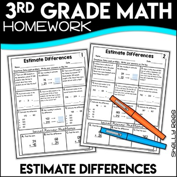 Estimating Differences Worksheets