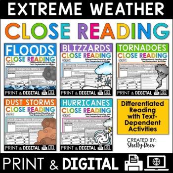 Extreme Weather Reading Passages Bundle