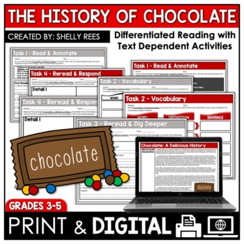 History of Chocolate Reading Passage and Worksheets