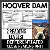 Hoover Dam Close Reading Comprehension Passage & Worksheets