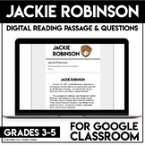 Jackie Robinson DIGITAL Reading Passage & Questions