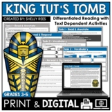 King Tut's Tomb Reading Passage and Comprehension Worksheets