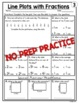 Line Plots with Fractions Worksheets