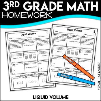 Liquid Volume 3rd Grade Worksheets