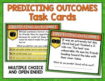 Making Predictions Digital Task Cards - Google Version