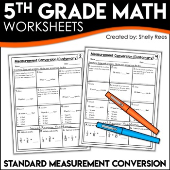 Measurement Conversion Worksheets CUSTOMARY