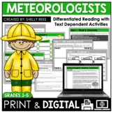 Meteorologist Reading Comprehension Passage and Worksheets