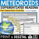 Meteors, Meteorites & Meteoroids Reading Passage & Worksheets