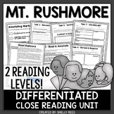 Mount Rushmore Reading Passage and Close Reading Worksheets