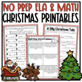 NO PREP Christmas Activities - 3rd Grade