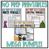 NO PREP ELA & Math Resource Bundle