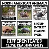 North American Animals Reading Comprehension Passages Bundle