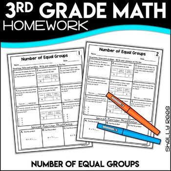 Number of Equal Groups Worksheets