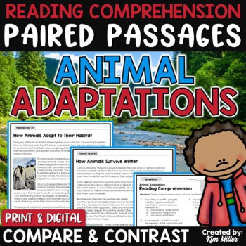 Paired Texts | Paired Passages Animal Adaptations