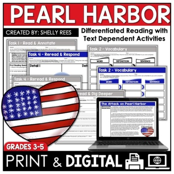 Reading passages worksheets teaching resources teachers pay teachers pearl harbor reading passage and worksheets pearl harbor reading passage and worksheets fandeluxe Gallery