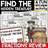 Equivalent Fractions Challenge   Pirate Escape Room Math NO LOCKS REQUIRED!