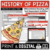 Pizza Reading Passage and Comprehension Worksheets