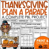 Thanksgiving Project Based Learning PBL Thanksgiving Activ