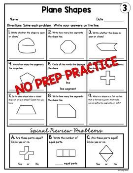 Plane Shapes Worksheets