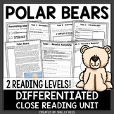 Polar Bears Reading Passage and Close Reading Worksheets