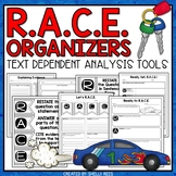 RACE Strategy Posters and Worksheets   Text Dependent Analysis Organizers
