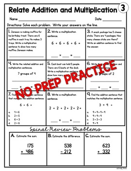 Relate Addition and Multiplication Worksheets