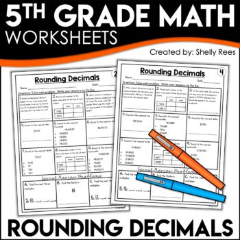 Rounding Decimals Worksheets | 5th Grade Homework