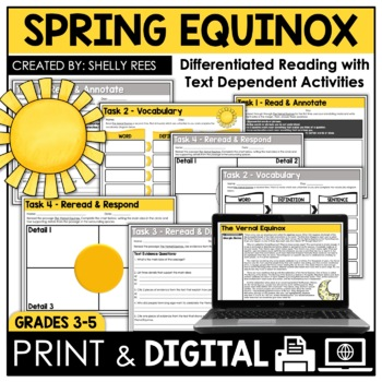 Spring Equinox Reading Passage and Worksheets