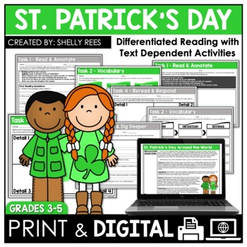 St. Patrick's Day Reading Passage and Worksheets