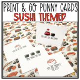 Punny Cards : Sushi Themed