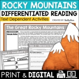 The Rocky Mountains Close Reading Passage & Worksheets
