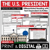U.S. President Duties Reading Passage and Worksheets