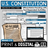 US Constitution Reading Passage - Constitution Day Activities