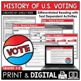 Voting Informational Text Reading Passage and Worksheets