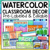 Classroom Themes Decor Bundle Watercolor - Watercolor Classroom Decor