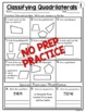 Classifying Quadrilaterals Worksheets