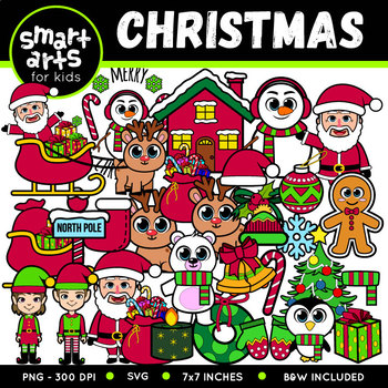 Christmas Clipart Set - SVG Cut Files