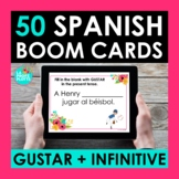 GUSTAR and Infinitive Spanish BOOM CARDS | Digital Task Cards