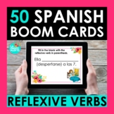 Reflexive Verbs Spanish BOOM CARDS   Digital Task Cards